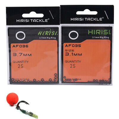 100Pcs Carp Fishing Quick Change Round Rig Rings Fishing Rigs O rings TC