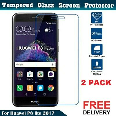2 Pack Tempered Glass Mobile Phone Screen Protector For Huawei P8 Lite 2017