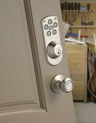 Kwikset 907 Smartkey Key Pad Code Entry Power Deadbolt Satin Nickel