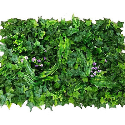 Artificial Ivy Plant Wall Cover Outdoor Privacy Wall Garden Fence Decor NR7Z