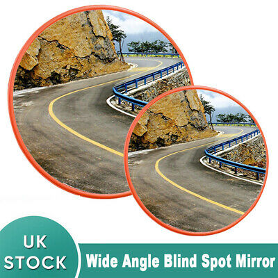 30/45 Wide Angle Security Curved Convex Road Mirror Traffic Driveway Safety
