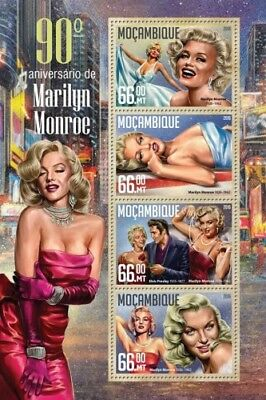 Mozambique 2016 Sheet Mnh Marilyn Monroe 3