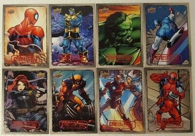 2015 Upper Deck Marvel Dossier Trading Card Set of 55 HEROES / VILLANS