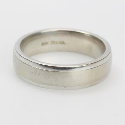 Diana Platinum Wedding Band Ring 18k Yel Gold Designer Unisex Sz 6