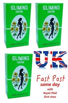100 Bags GERMAN SLIMING HERB TEA Slimming Weight Loss calories burning Green Tea