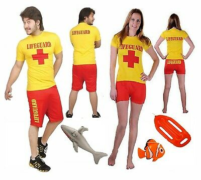 a6e3850f98 Ladies Men's Lifeguard fancy dress Beach Hen Stag Baywatch style costume  outfit