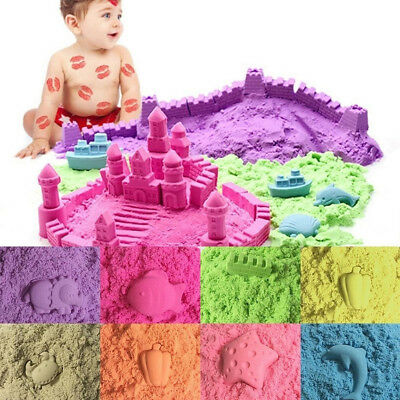 Ee_ 50/100/200G Magic Space Clay Sand Model Non Sticky Educational Kids Play Gif