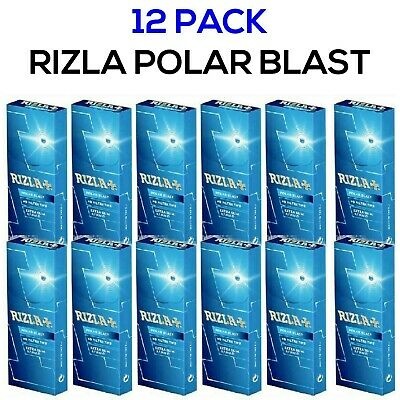 12 X Rizla Polar Blast Filter Tips Extra Slim Pop Menthol Smoking Rolling