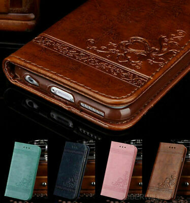Case For Samsung Galaxy S10 Plus S10e Genuine Leather Magnetic Wallet Flip Cover
