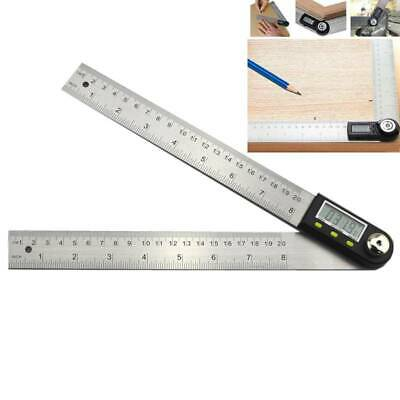 200mm Digital Electronic Angle Finder Goniometer Measuring Tool Gauge Ruler