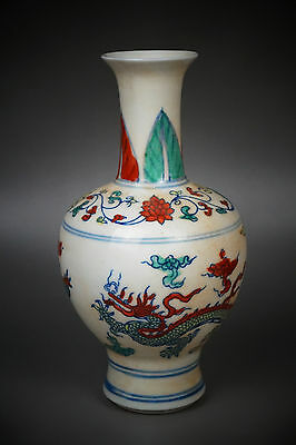 A Fine Collection of Chinese 14thC Ming Chenghua Mark Porcelain Dragon Vases