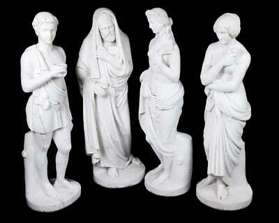 Set Four Grand Tour Italian Marble Statues Representing the Four Seasons