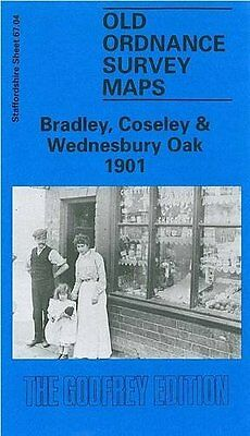 Old Ordnance Survey Map Bradley, Coseley & Wednesbury Oak 1901