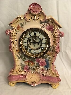 Antique Ansonia Royal Bonn La Tosea Clock