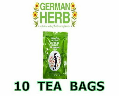 10 Bags GERMAN SLIMING HERB TEA Slimming Weight Loss calories burning Green Tea