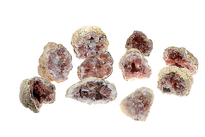 Pink Amethyst Geode Healing Crystal 40mm Qty One Chosen From the Lot Shown