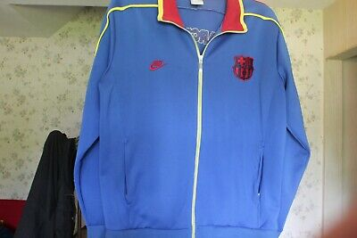 fa71994e339 Nike FCB FC Barcelona XL Warm Up Jacket Blue With Yellow and Red Pipping