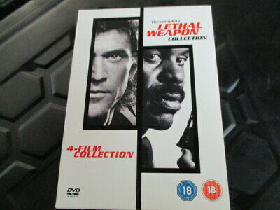 Complete Lethal Weapon movies 1-4,mel gibson,4 dvd boxset,uk dvd,fast post :)