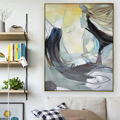VV025 Modern Hand Painted abstract Oil Painting on Canvas Home Decor Frameless