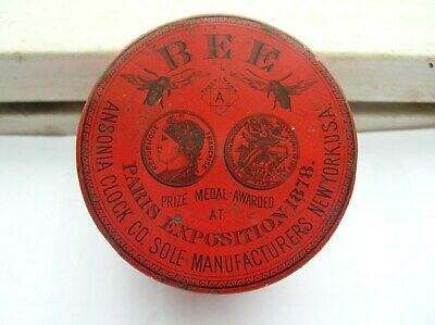 """Ansonia Clock Co. """"BEE"""" Vintage Tin (only)"""