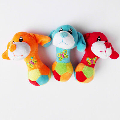 EE_ LK_ Pet Dog Puppy Cat Chews Toy Plush Squeaker Squeaky Sound Play Train Toy