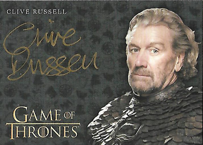 Game of Thrones Clive Russell as Brynden Tully Autograph Card Valyrian Steel