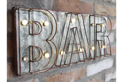 Light Up Bar Beer Home Wall Decoration Sign Plaque Bar Pub Retro Art Letters