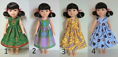 "Handmade Doll Clothes Dress Colors for 14.5"" AG Wellie Wishers and H4H Dolls"