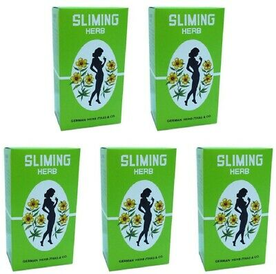 5 Boxes - 250 Bags GERMAN SLIMING HERB TEA Slimming Weight Loss calories burning