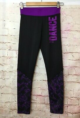 d1a102a4857b9 NEW JUSTICE BLACK Athletic Full Length Leggings NWT 6 7 8 10 12 14 ...