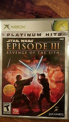 xbox platinum hits - star wars episode III - revenge of the sith - last one!