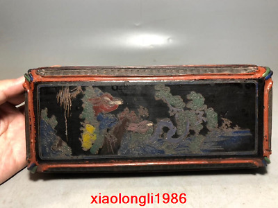 China antique Character pattern Lacquer ware box