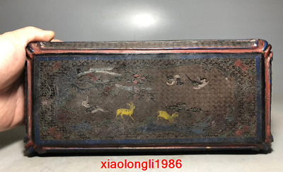 China antique Deer stripe Lacquer ware box