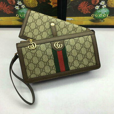 adf5330ac67e WOMEN'S AUTHENTIC GUCCI Black GG Canvas Continental/Long Wallet ...