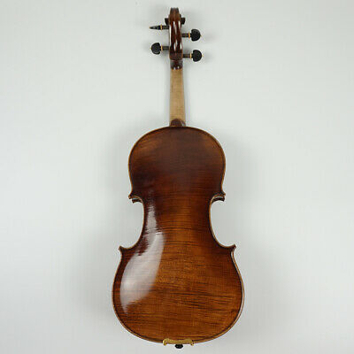 Master Violin 4/4 Full Size Handmade Flame Maple Back Russian Spruce Top #V03
