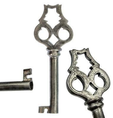 "Antique Georgian Key with SHAPED, PIERCED & ENGRAVED Bow 3⅛"" - Scarce - ref.K583"
