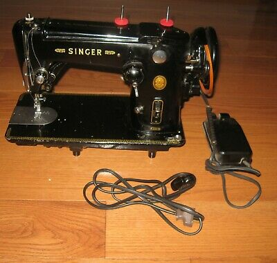 Vtg Singer 306K Sewing Machine Heavy Duty Industrial Pedal Nice 1950s 60s Rare