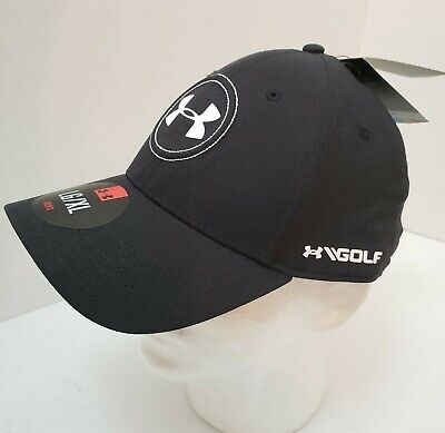 best loved 79d0b 1f858 NEW Under Armour Golf Jordan Spieth Tour Flex Fit Hat Cap L XL Black