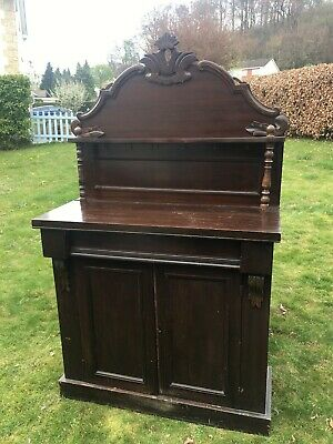 Antique Victorian 19Th Century Style Mahogany Chiffonier Sideboard