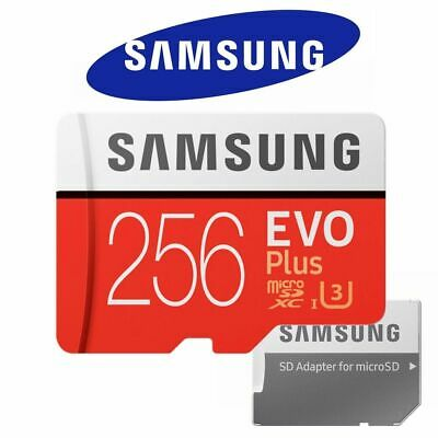 Samsung EVO Plus 256GB Micro SD Card Class 10 SDXC Phone Memory 4K 100MB/s Speed
