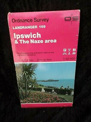 OS Ordnance Survey Landranger Map Sheet 169 - Ipswich & The Naze area