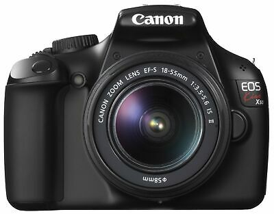 Canon Digital Slr Camera Eos Kiss X50 With Ef-S18-55Mm Is Ii Lens Kit (Black) -