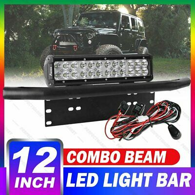 "12 inch 240W CREE Combo LED Light Bar + 23"" License Plate Frame Mount Bracket"