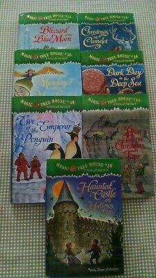 Magic Tree House Books Lot of 7 Hardcover Dust Jacket Chapter Home School