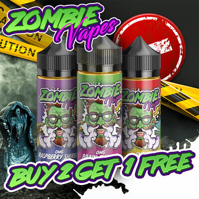 ⭐ 60ml - 120ml E Liquid Vape 70/30 VG PG Zombie Vapes Premium eliquid 0mg-18mg ⭐