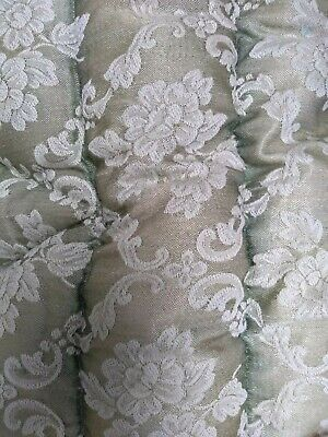 ANTIQUE Green VINTAGE EIDERDOWN FEATHER DOWNTON PLUMP SINGLE QUILT BED 39x64""