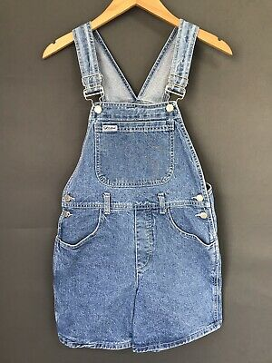 Vintage 90s Guess Girls Size 12 Denim Shortalls Jean Overalls 100% Cotton USA