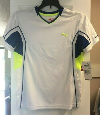 PUMA SPORT LIFESTYLE KIDS Small BOYS WHITE LOGO  Short sleeve New
