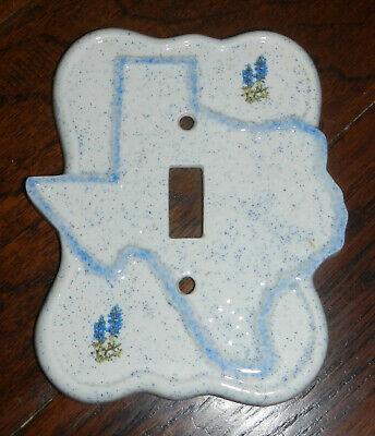 Texas Bluebonnets Ceramic Single Light Switch Electrical Plate Cover