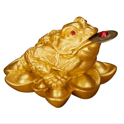 1pc Chinese Money Lucky Fortune Wealth Three Legged Frog Toad Decor Golden